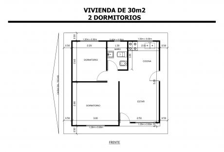 Vivienda-de-30m2-2-Dormitorios