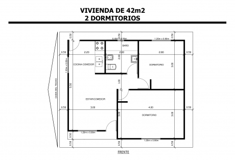 Vivienda-de-42m2-2-Dormitorios