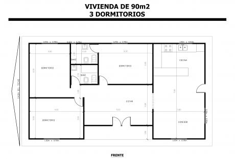 Vivienda-de-90m2-3-Dormitorios